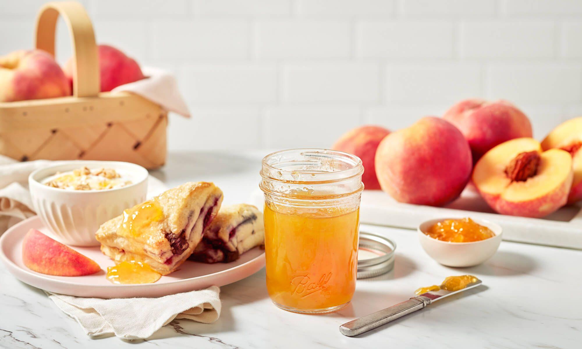 Peach Low Sugar Jam Ball Recipes Low Sugar Jam Peach Jam Recipe Peach Jam