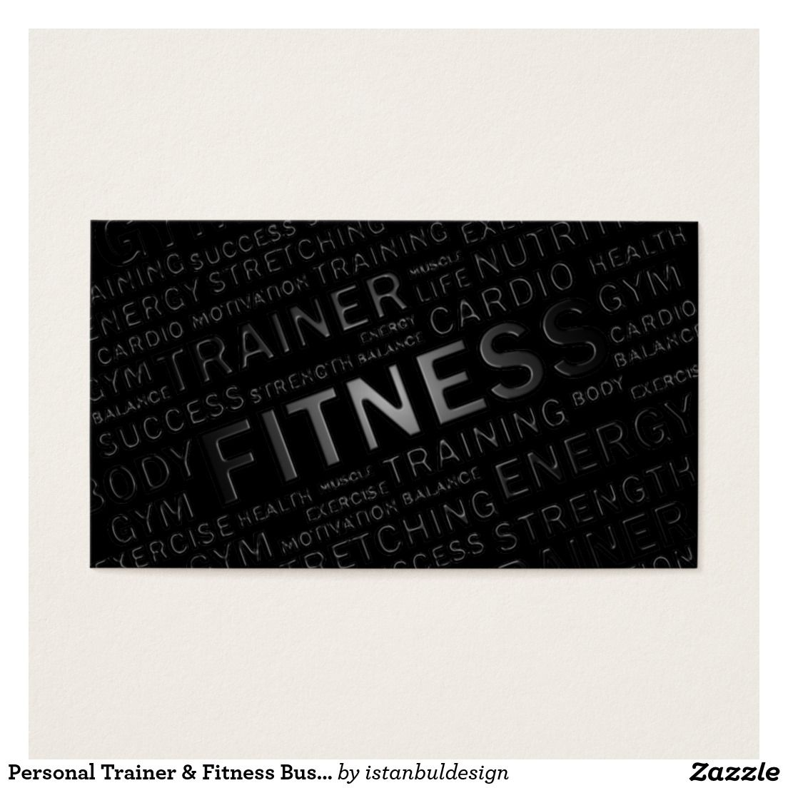 Personal trainer fitness business card trainer fitness business personal trainer fitness business card colourmoves