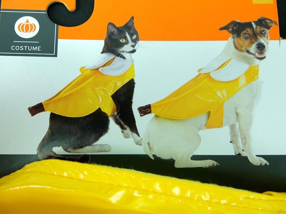 Pet Banana Costume Halloween Dog Cat Sizes XS S M #Unbranded : banana cat costume  - Germanpascual.Com