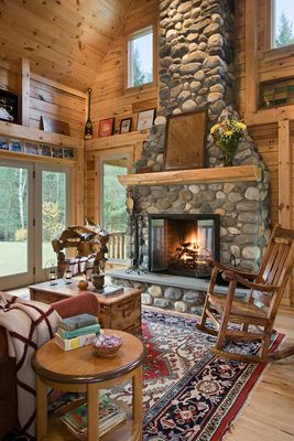 Coventry Log Homes | Our Log Home Designs | Tradesman Series | The on open living dining space, luxurious open house designs, open space home designs, open floor plan house designs, space room designs, open kitchen living dining room designs,
