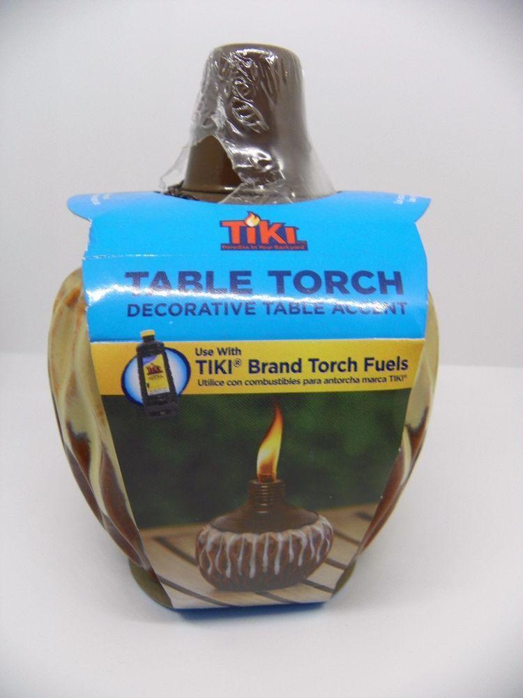 Tiki Table Torch Coconut Oil Lamp Bar Decor
