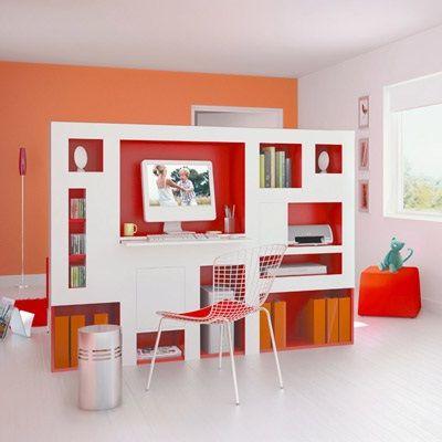 decoracion super fashion separador de ambiente de oficina en casa