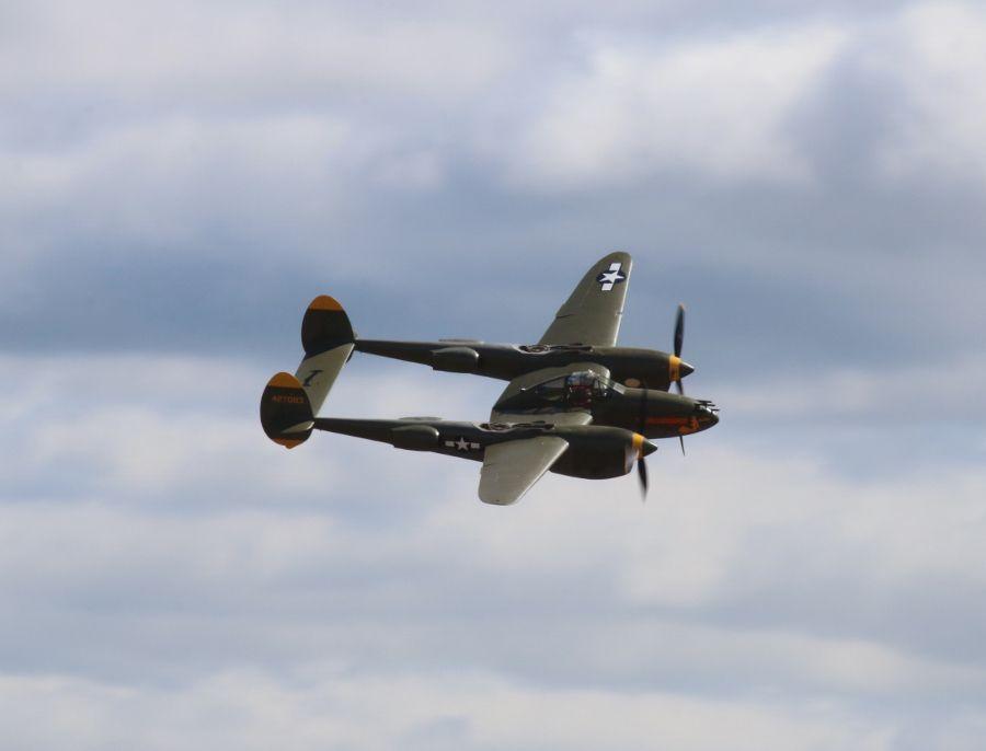 "Erickson Aircraft Collection Lockheed P-38L Lightning ""Tangerine"" JBLM Airshow 2016"