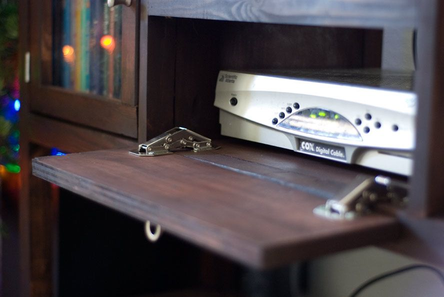build a console table - or steal this idea when making box to hide