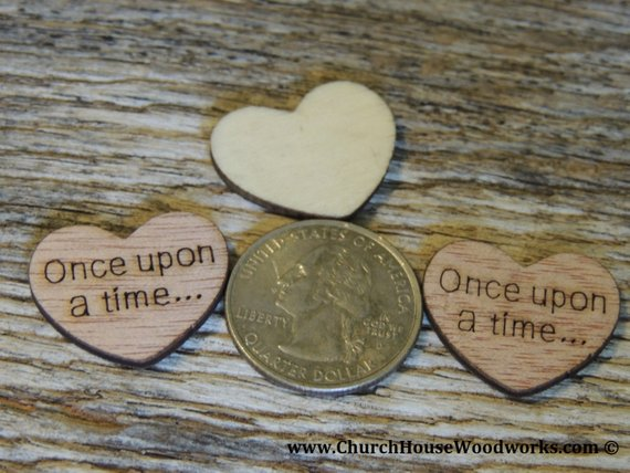 100 Once Upon A Time 1 Wood Hearts Wood Confetti Engraved Love Hearts Rustic Wedding Decor Table Wooden Hearts Wedding Wedding Decorations