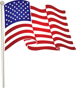 United States Waving Flag Clip Art American Flag Clip Art Memorial Day Flag Flag Art