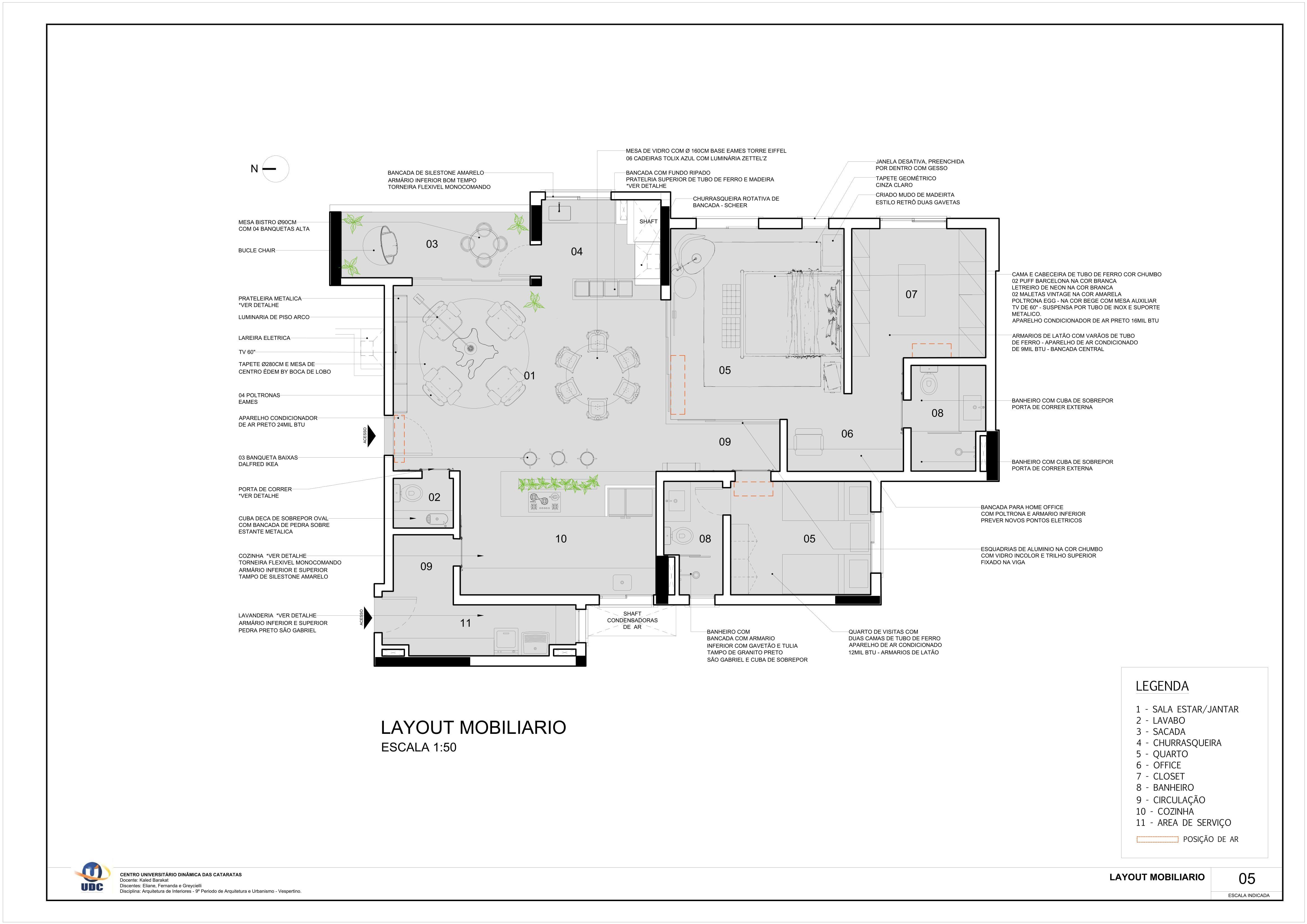 Projeto De Interiores Residencial Apartamento Para Um Casal Sem