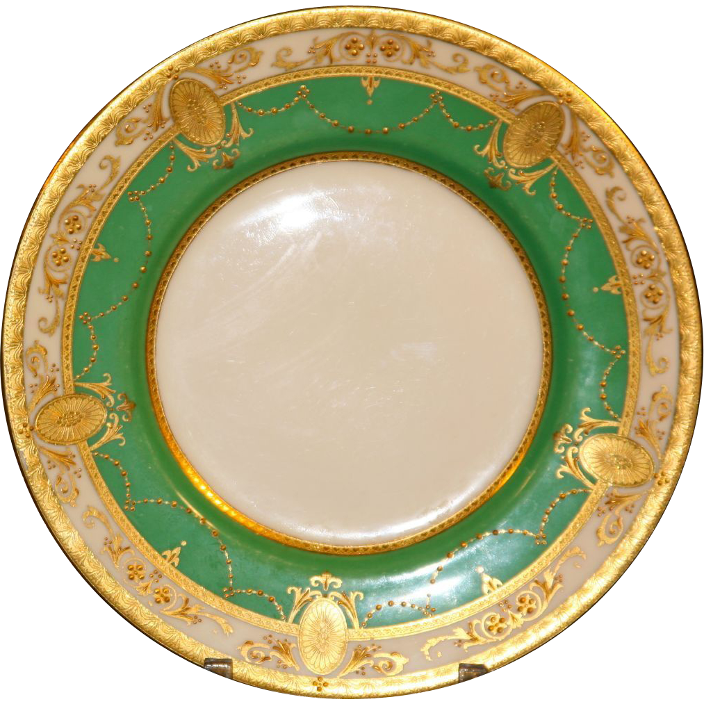 12 Minton Neoclassical Gold and Green Medallion Plates- Salad Lunch or Dessert  sc 1 st  Pinterest & 12 Minton Neoclassical Gold and Green Medallion Plates- Salad Lunch ...