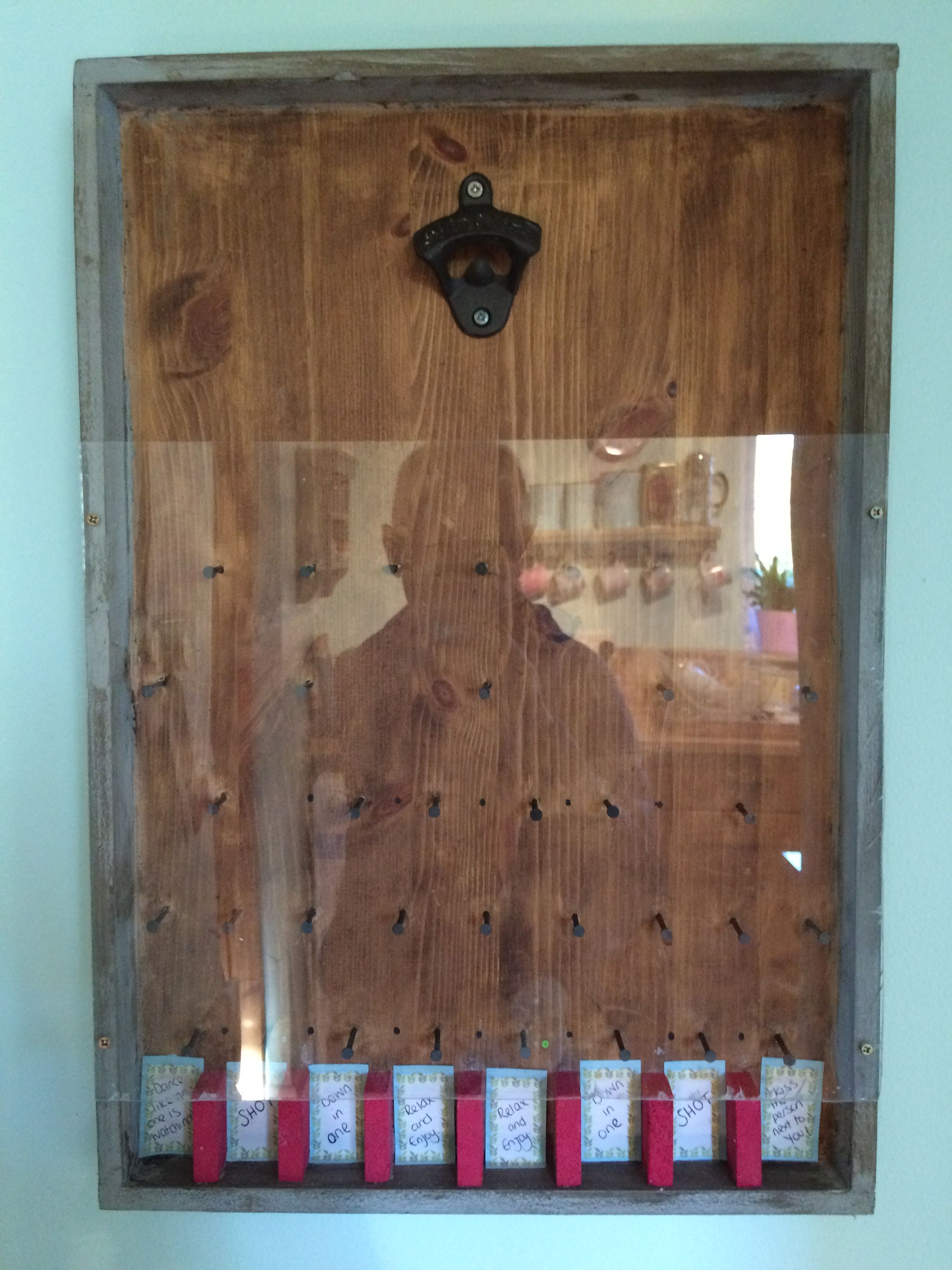 Bottle Opener Wall Mounted Drinking Game Beer Crafts