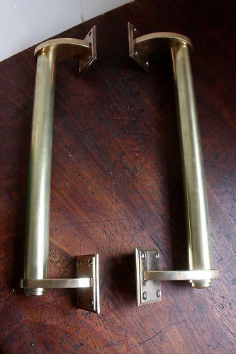 Antique 1930s Brass Door Handles Vintage Industrial Deco Door Handles Vintage Door Handles Brass Door Handles
