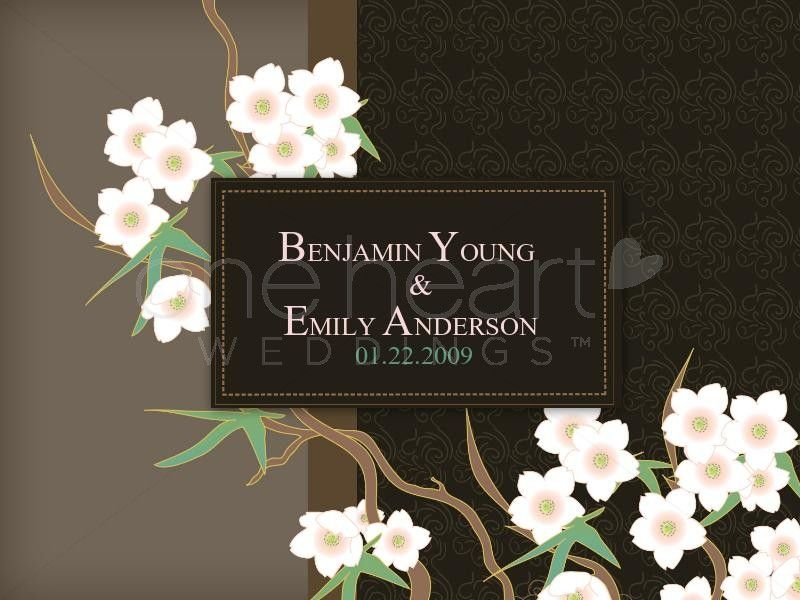 Chinese Blossoms Wedding Powerpoint slide 1