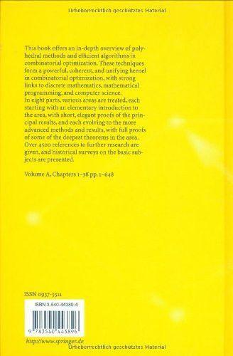 Combinatorial Optimization (3 volume, A,B, & C)