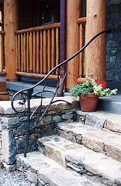 Outdoor hand railings home hand forged products - Exterior wood hand railings for stairs ...