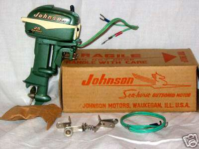 1955 Johnson toy outboard motor box