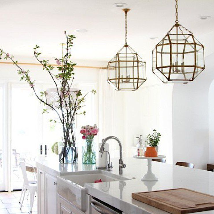 Brass Pendant Lights Lanterns Kitchen Island 2  Home  Pinterest Captivating Kitchen Lanterns Inspiration Design