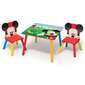 table et 2 chaises mickey disney chambre bureau mobilier bureaus. Black Bedroom Furniture Sets. Home Design Ideas