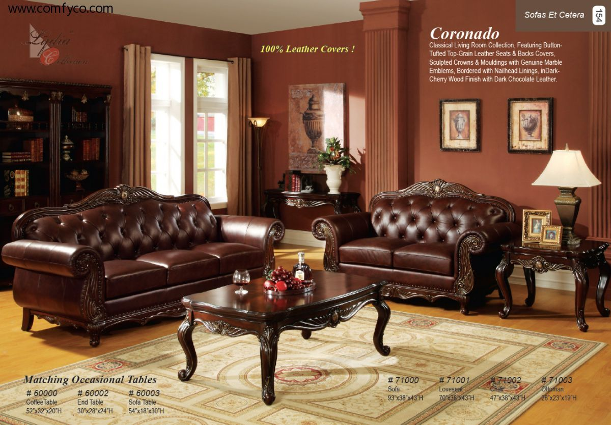 Brown Leather Sofa Set Brown Leather Living Room Furniture