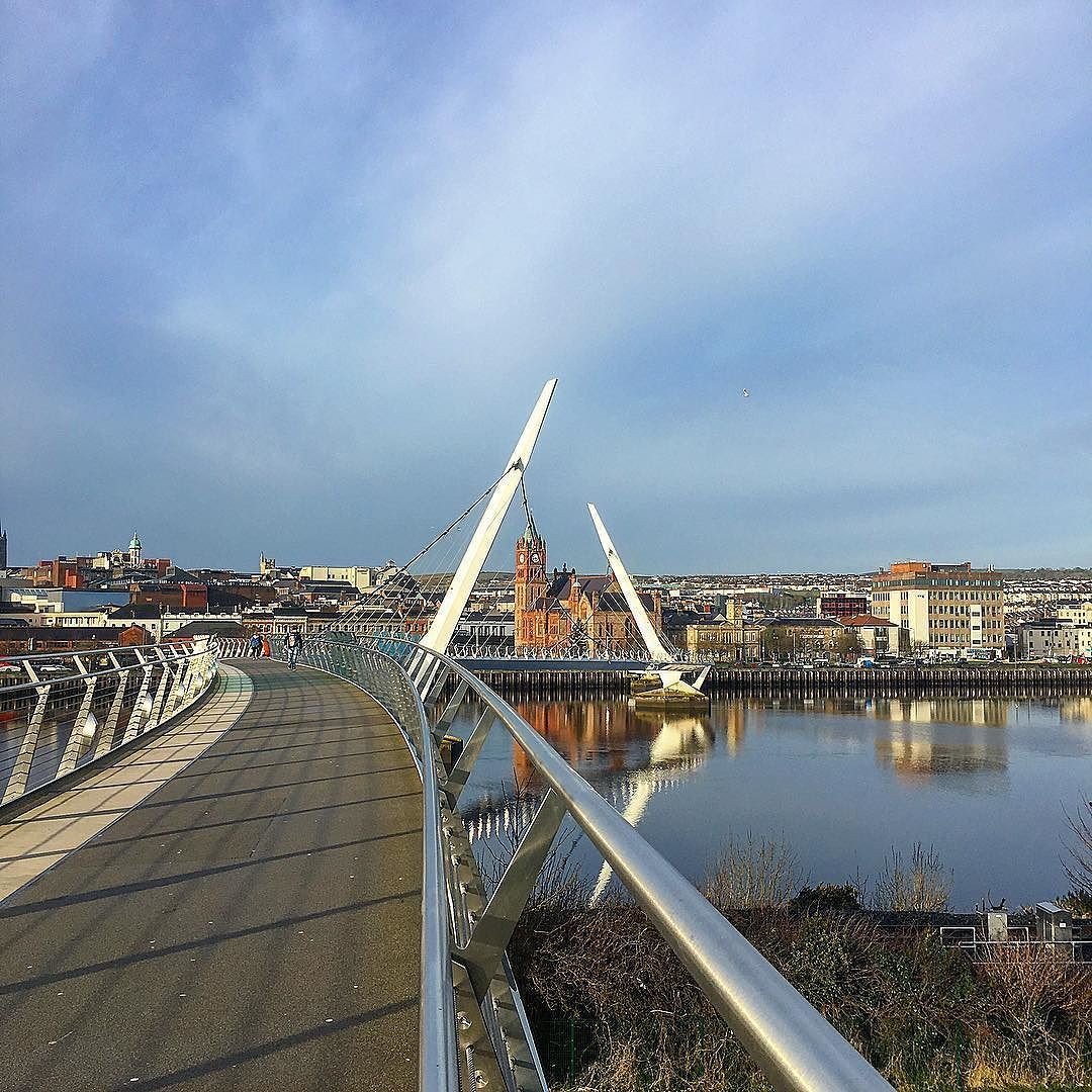 Finally! A half decent morning in Derry Londonderry. # ...
