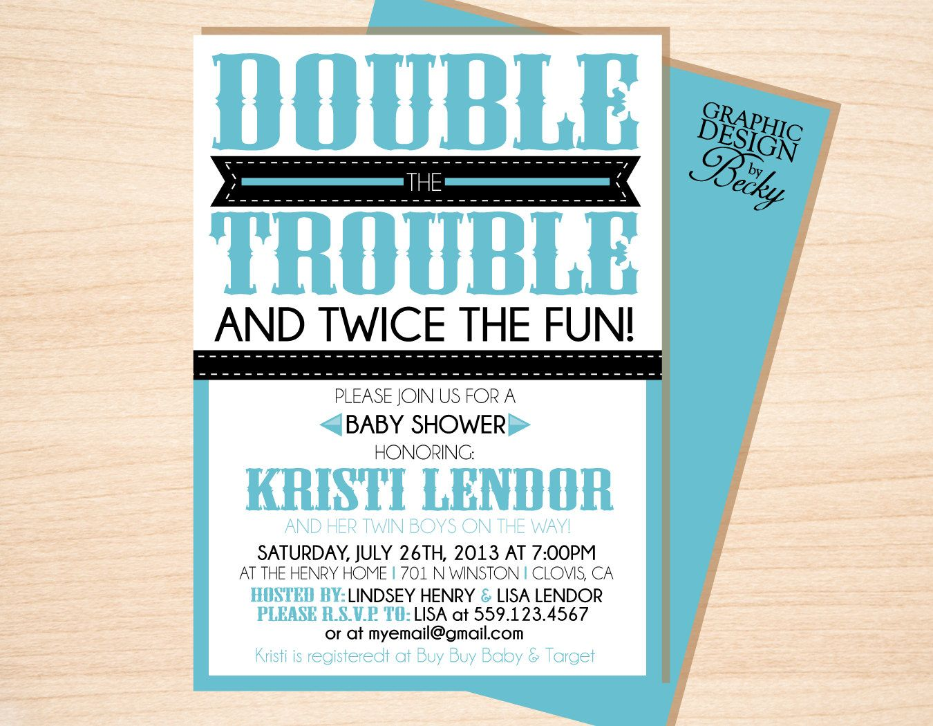 Double Trouble Twins Baby Shower - A Printable Baby Shower ...