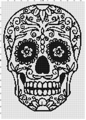 Photo of Sugar Skull Day of the Dead, Dia De Los Muertas – Cross Stitch Patterns – Instant Download