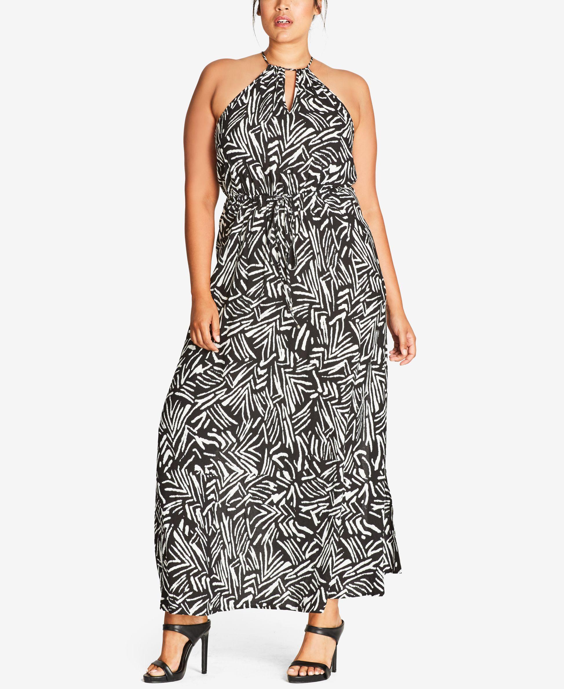 42e71439a6 City Chic Trendy Plus Size Floral-Print Maxi Dress