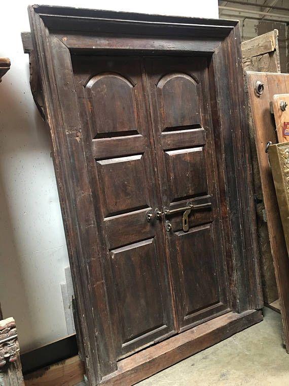 Indian Antique door Garden door solid teak wood door - Indian Antique Door, Garden Door, Solid Teak Wood Door Doors