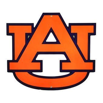 auburn tigers 12 steel logo street sign wde auburn football rh pinterest com auburn football logo pictures auburn football logo pictures