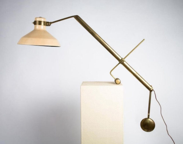 Rare Libra Lux Table Lamp By Roberto Menghi For Lamperti Co 98u029 Thomas L Stewart Table Lamp Brass Table Lamps Lamp