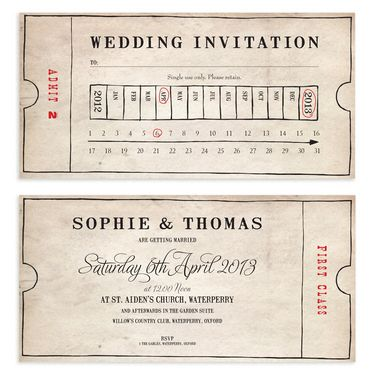 Vintage Bus Ticket Wedding Invitation Wedding Pinterest - bus ticket template