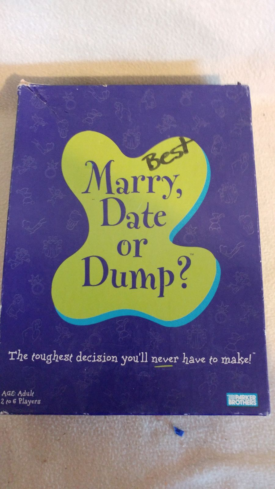 marry date or dump adult gameparker brothers. family fun game