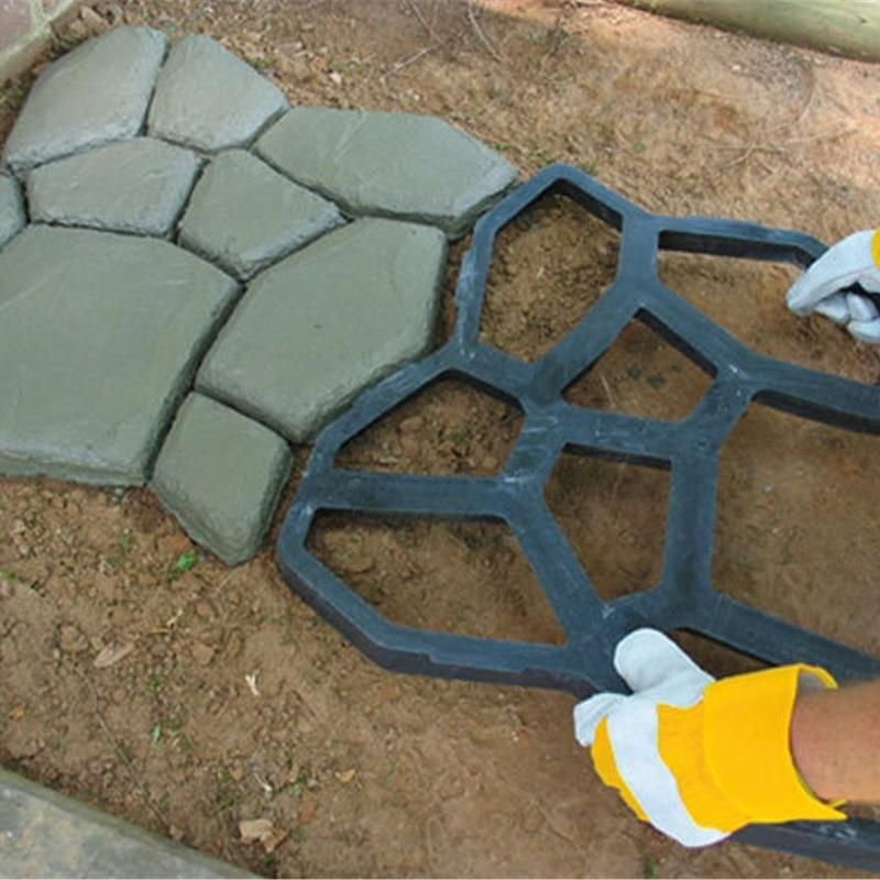 Paivo Diy Garden Pavement Stone Walkway Mold Walk Maker Cement Patio Patio Stones