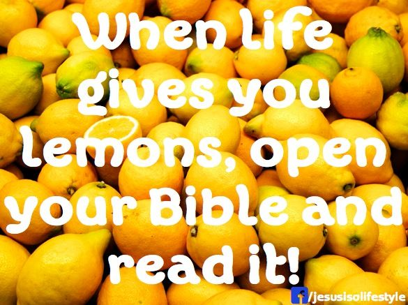 Image result for bible and lemons