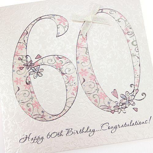 Handmade beautiful chic 60th Birthday Card