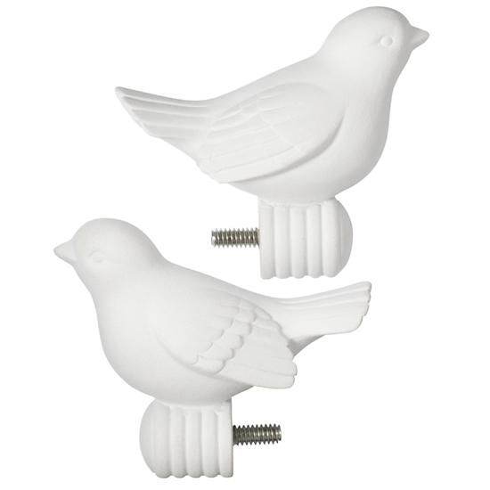 Bird Finials Set Of 2 Bird Curtains Finials Land Of Nod