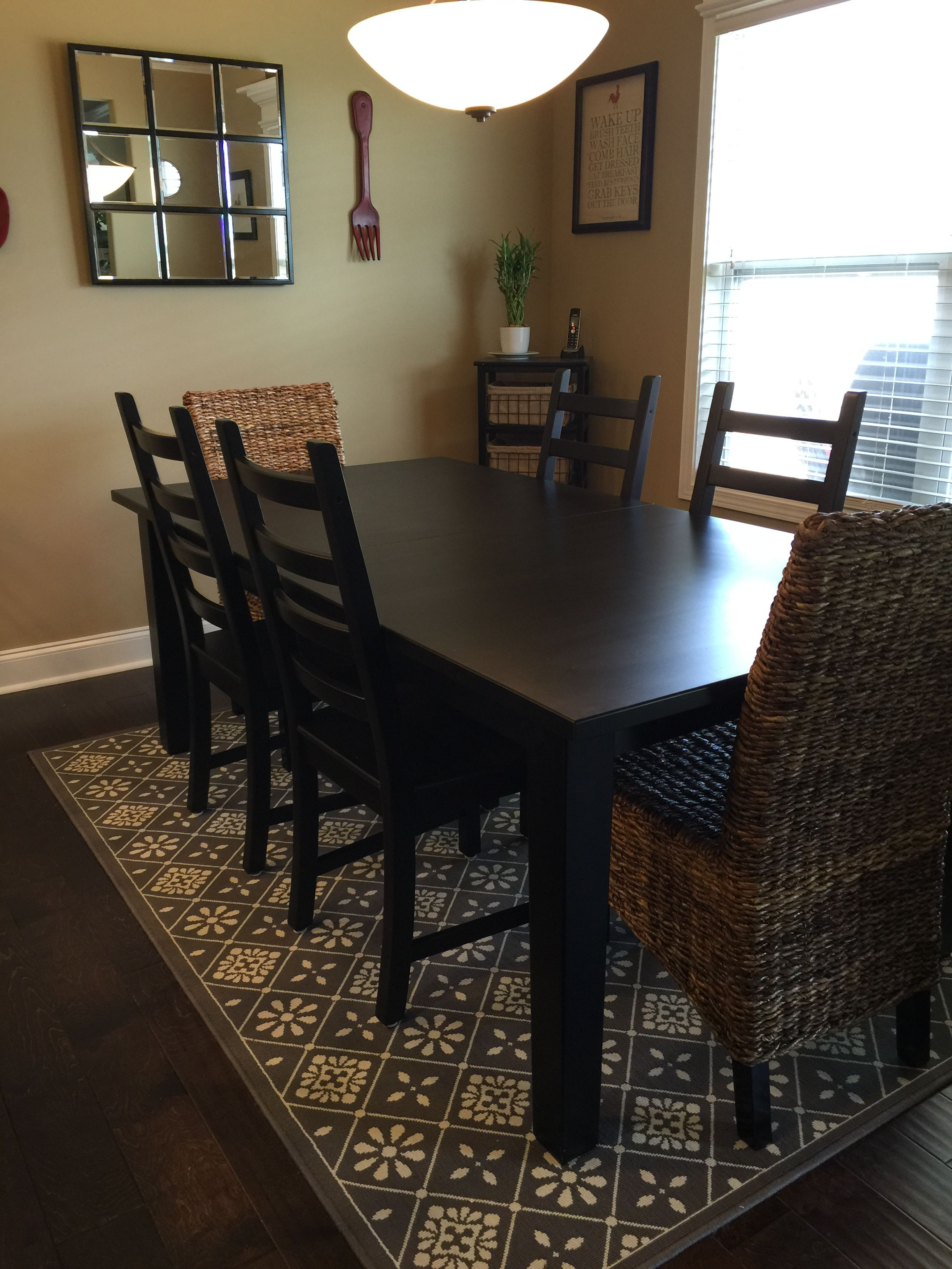 Ikea Stornas Table In Black Brown With Kaustby Side Chairs Also