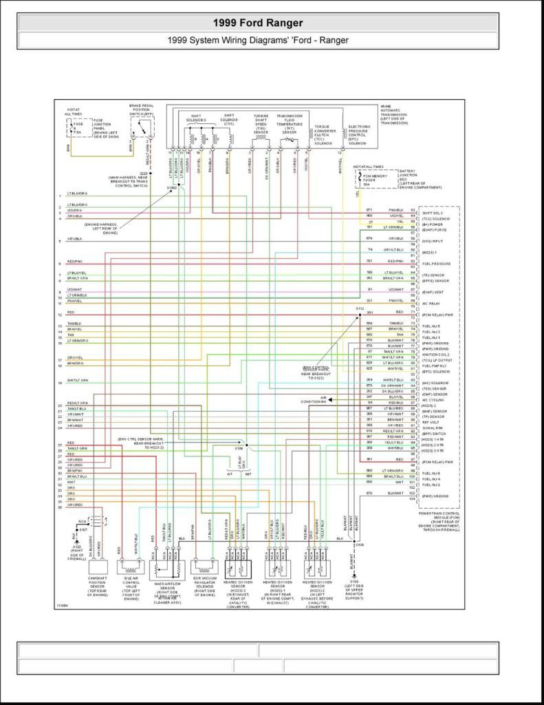 1999 Ford Ranger Fuse Diagram Electrical Fish Wire Web Wireframe Also 2002 Wiring  Diagrams In