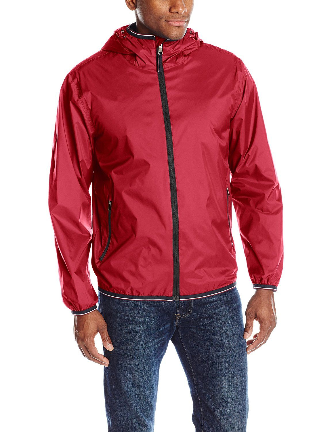 9cc19b8d4d Tommy Hilfiger Men s Waterproof Breathable Rain Shell Jacket at Amazon  Men s Clothing store