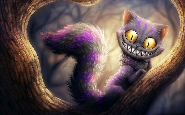 Fantasy Cats | Cat artwork, Cheshire cat alice in wonderland