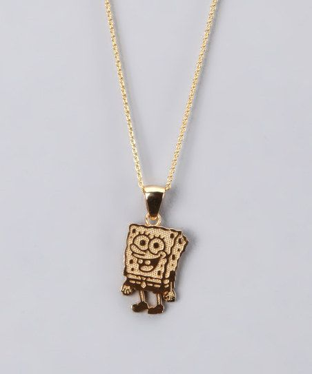 6f2949091ac07 Mare, Emry would LOVE this! Gold SpongeBob Necklace | oh my gosh ...
