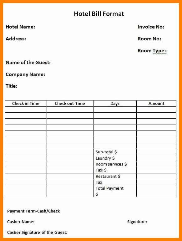 Excel Spreadsheet Receipt Template