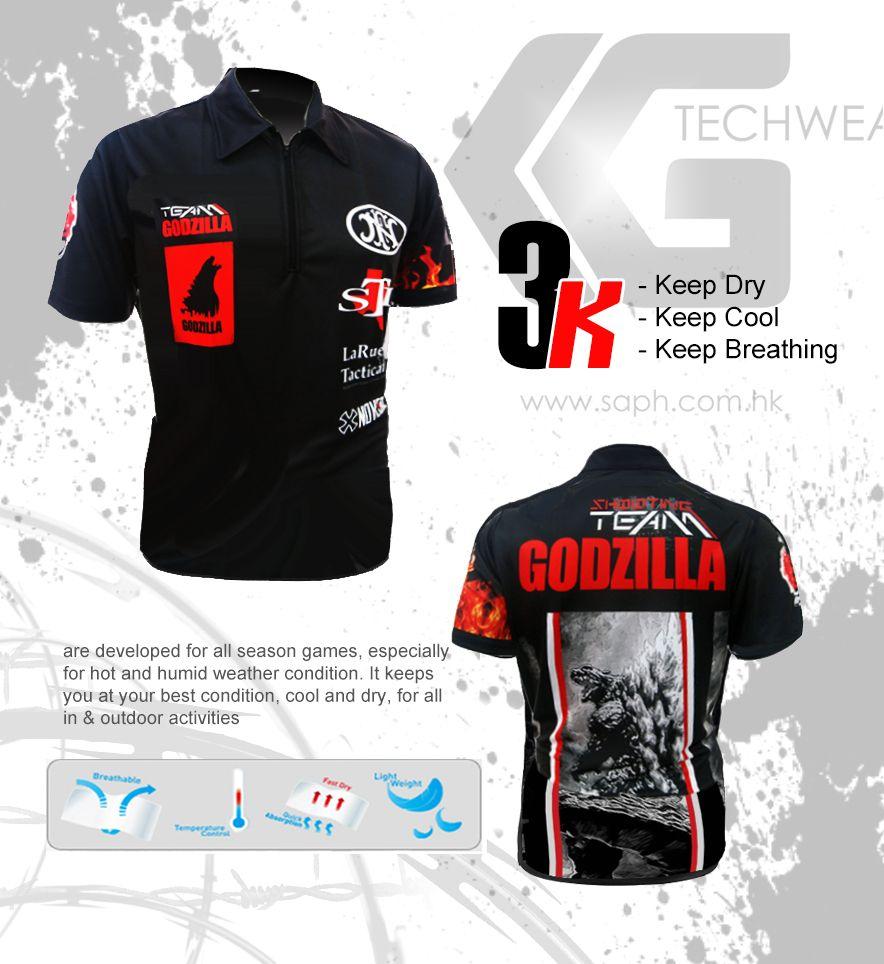 Shooting Shirt Godzilla From Kgtechwear