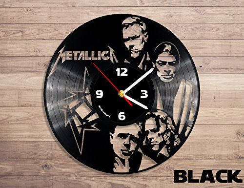 Metallica Rock Band Music Vinyl Record Wall Clock Artgrai Clock Wall Clock Vinyl Records