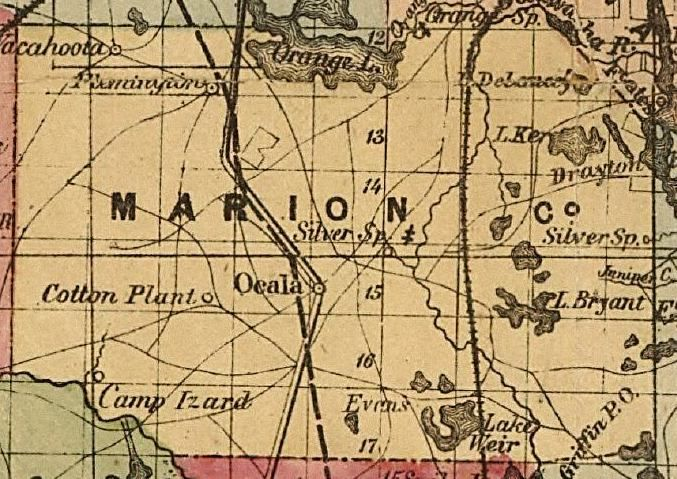 Marion County Florida Map.Maps Of Marion County Florida Maps Marion County 1874 Map Site Map