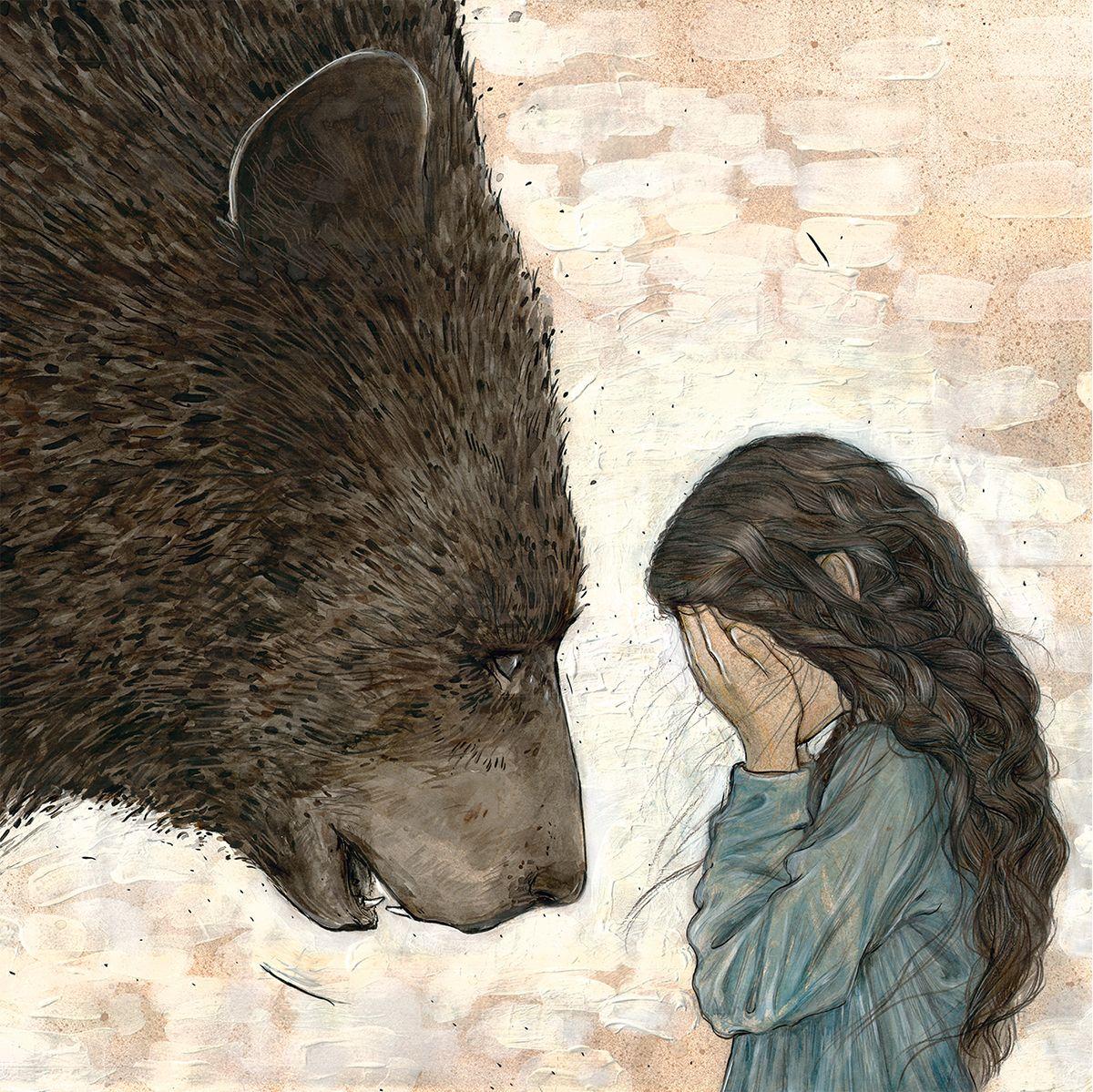 Мая, девочка и медведь картинки