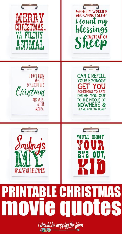 Printable Christmas Movie Quotes Christmas Movie Quotes Christmas Movies Christmas Printables