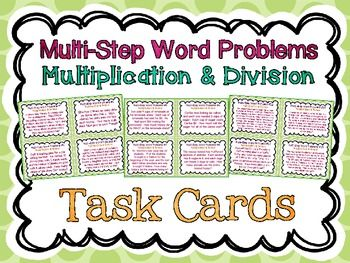 multi step word problems task cards multiplication division story problems word problems. Black Bedroom Furniture Sets. Home Design Ideas