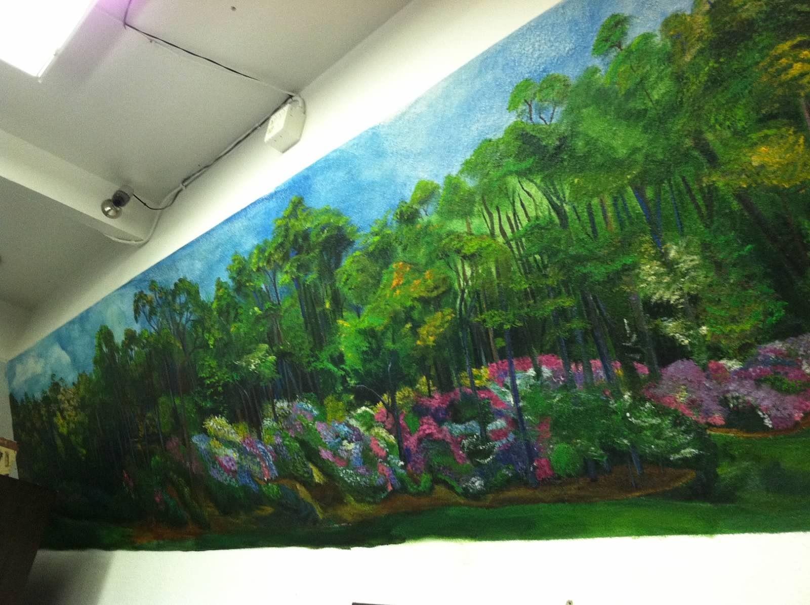 trees from augusta golf course golf murals pinterest
