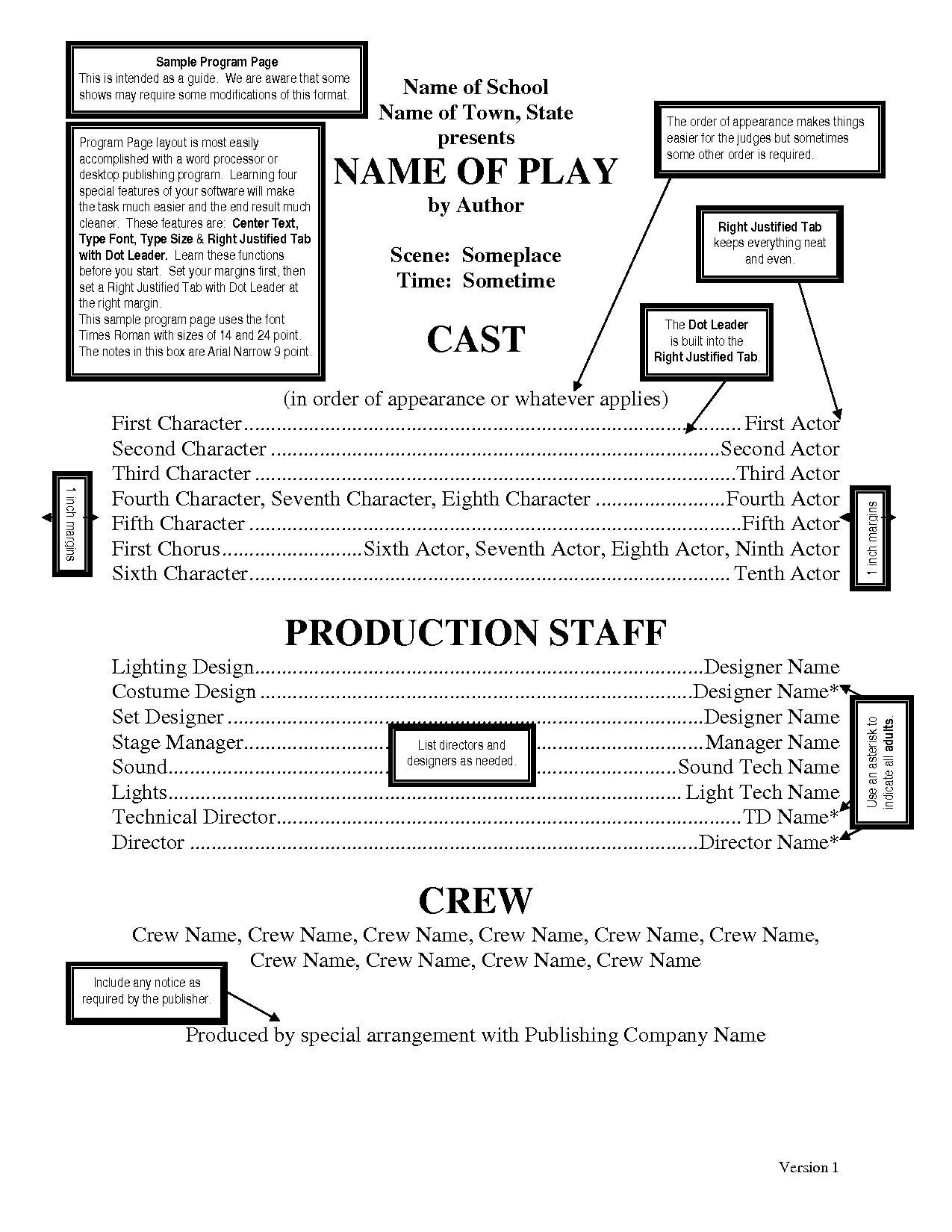 theatre programs template - Google Search | Little Mermaid | Pinterest