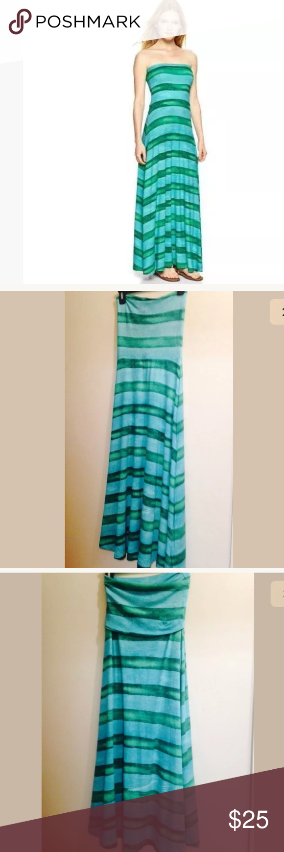Gap Blue Green Striped 4 In 1 Maxi Dress Maxi Dress Dress Brands Gap Dress [ 1740 x 580 Pixel ]