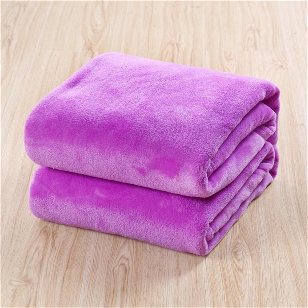 Soft Throw Flannel Blanket Warm Coral Plaid Blankets (15